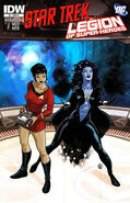Star Trek - Legion of Super-Heroes issue 3 cover RI