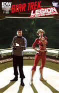 Star Trek - Legion of Super-Heroes issue 4 cover RI