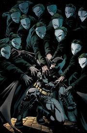 Batman is attacked by the Court of Owls