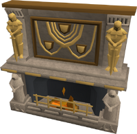 Temple fireplace