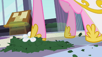 Chrysalis as Cadance stepping on hat's remains S2E26