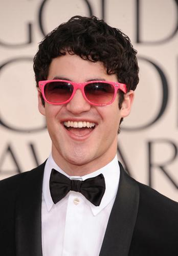 Darren Criss Wearing Hot Pink Sunglasses
