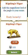 Questitem Kipling&#39;s Tiger-Inventory
