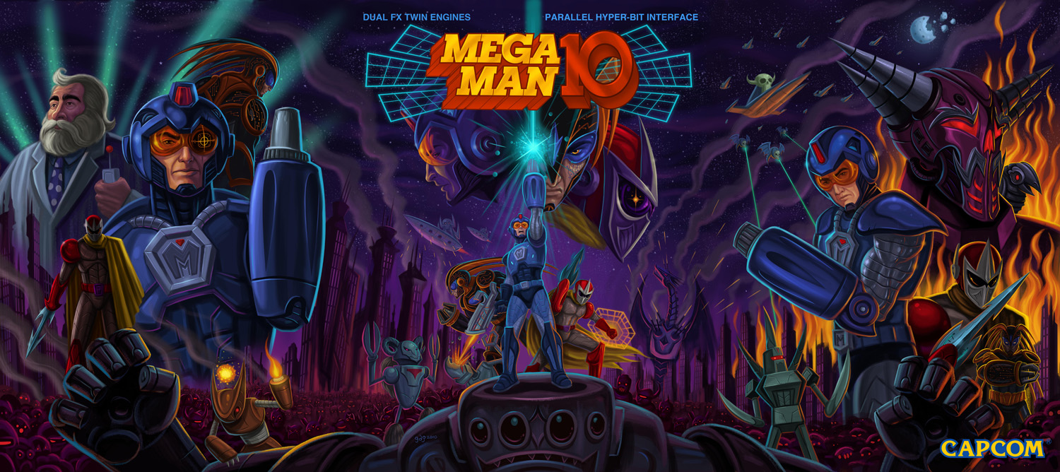 This Mega Man Legacy Collection 2 PS4 theme is dope, and there's a