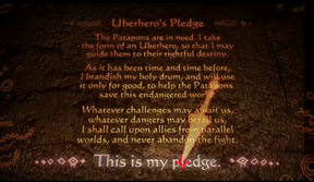 Uberheroe's Pledge