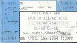 San Diego ticket wikipedia duran duran