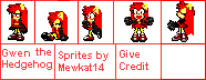 Gwen The Hedgehog Sprites by Mewkat14