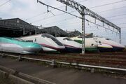 JR East Shinkansen lineup at Niigata Depot 200910