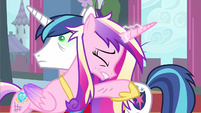 Princess Cadance embrace Shining Armor S2E26