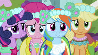 Twilight, Pinkie, Rainbow and Applejack S2E26