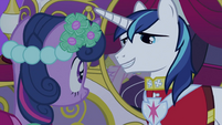 Shining Armor talking to Twilight S2E26