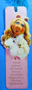 Hallmark 1980 bookmark miss piggy