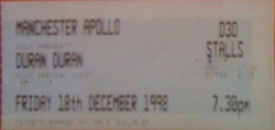 Apollo, Manchester, UK. ticket wikipedia duran duran bt london live