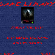 Game libary - friday the 13th