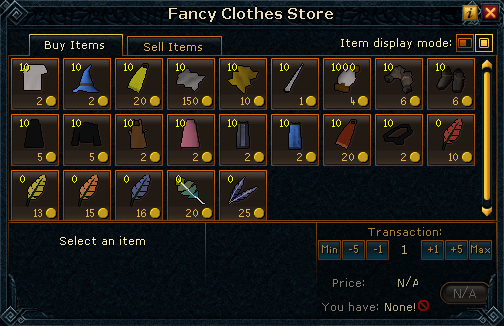 Fancy Clothes Store stock