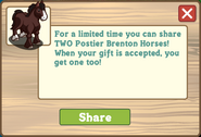 Postier Brenton Horse - Share Message