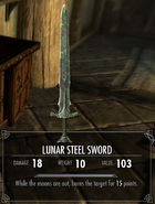 Lunar Steel Sword