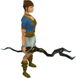 Runic staff equipped