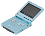 Game Boy Advance SP - Cyan Model
