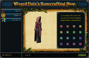 Wizard Finix's Runecrafting Shop (Recolour)