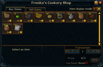 Frenita's Cookery Shop stock