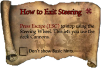 Scroll HowtoExitSteering