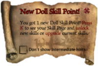 Scroll NewDollSKillPoint