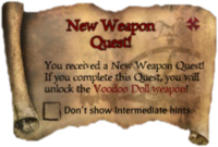 Scroll NewWeaponQuest