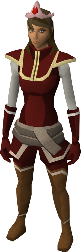 Fire tiara equipped