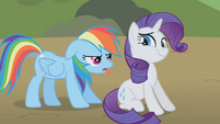 Rainbow Dash sticking her tongue out S1E10