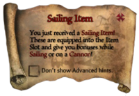 Scroll Sailing Item