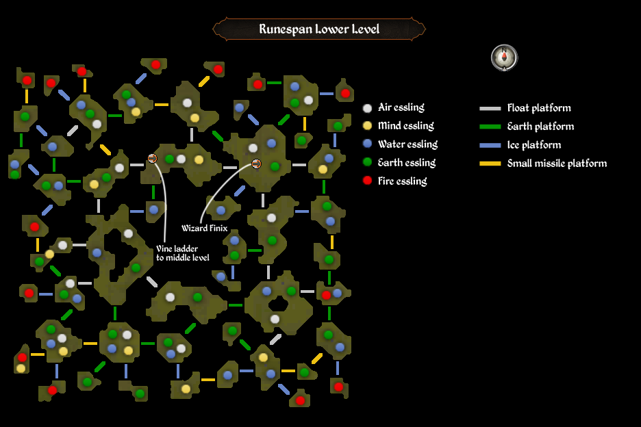 Runespan lower level map