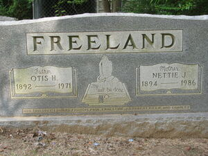 Otis Henry Freeland headstone