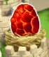 Flaming roca del dragón Egg.png