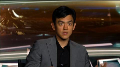 "Star Trek (2009) - Interview John Cho ""On the platform scene"""
