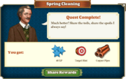 Quest Spring Cleaning-Rewards