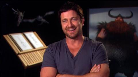 "How To Train Your Dragon (2010) - Interview Gerard Butler ""On Stoick and Hiccup"""