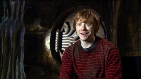 "Harry Potter and the Deathly Hallows Part 2 (2011) - Interview ""Rupert Grint On The Chamber Of Secrets Set"""
