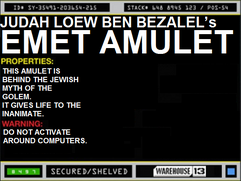 Judah Loew ben Bezalel&#39;s Emet Amulet