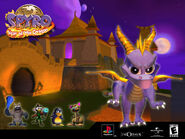 Spyro in Fireworks Factory Desktop Wallpaper (2)
