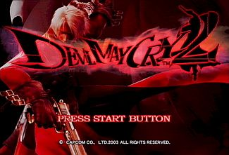 DMC2 Dante Title Screen