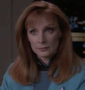 Beverly Crusher hologram, 2369