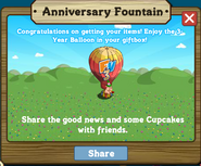 Anniversary Fountain Stage 1 Completed