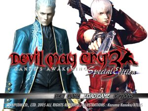 DMC3 Title Screen