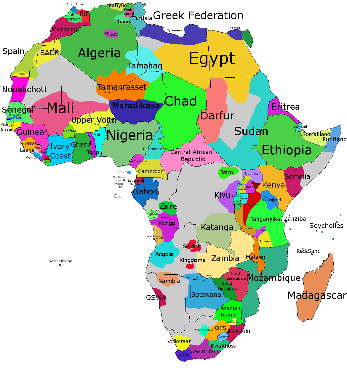 Capitals Of African Countries Map Images