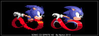 Sonic CD Sprite HD by Nerkin