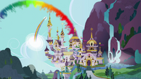 Sonic rainboom over Canterlot S2E26