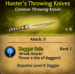 Hunter's Throwing Knives - clearer