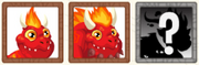 Flaming rock dragon