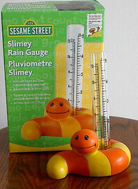 Slimey rain gauge